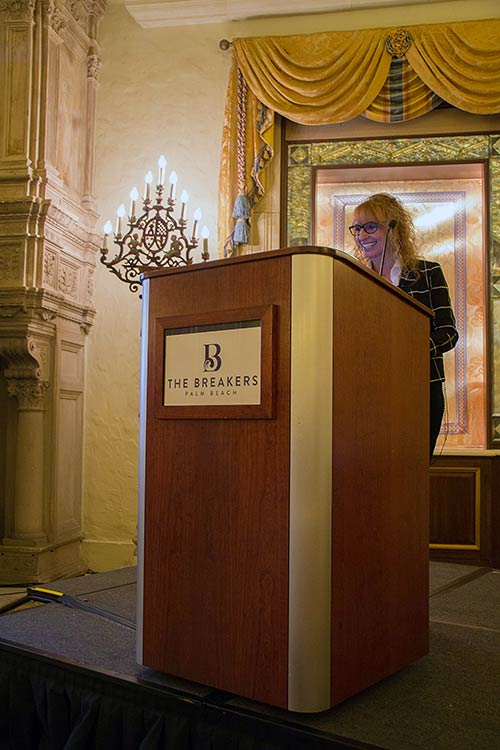Anna Ciulla, Vice President of Clinical and Medical Services, speaking at Moments of Change